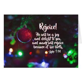 Luke-1:14 freuen sich! Er ist eine Freude, Karte