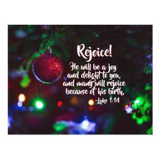 Luke-1:14 freuen sich viele wegen seiner Geburt, Postkarte