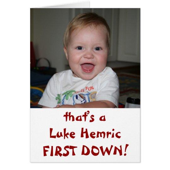Luke ZUERST UNTEN! Mitteilungskarte