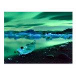 Lumières du nord au-dessus de lac Jokulsarlon, Cartes Postales