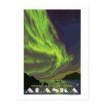Lumières du nord et orques - parc national de cartes postales
