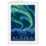 Lumières du nord - Wrangell, Alaska Carte De Vœux