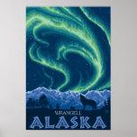 Lumières du nord - Wrangell, Alaska Poster
