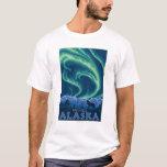 Lumières du nord - Wrangell, Alaska T-shirt