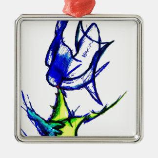 Luminal Fluxion durch Helle Quadratisches Silberfarbenes Ornament