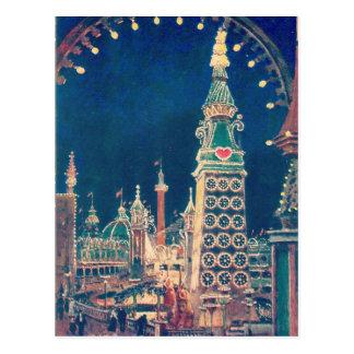Luna Park Coney Island Postkarte