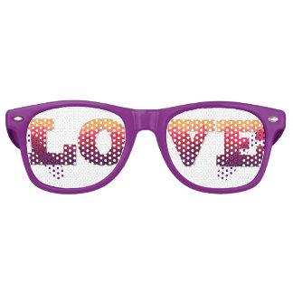 Lunettes De Fête Retro Aimez le mot dans l'ombre à la mode violet, rose,