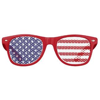 Lunettes De Fête Retro Drapeau américain des Etats-Unis - bannière