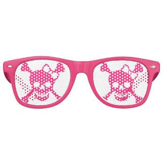 Lunettes De Fête Retro Partie rose Shadez de crâne de dames