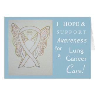 Lungenkrebs-Bewusstseins-Band-Gruß-Karte Karte