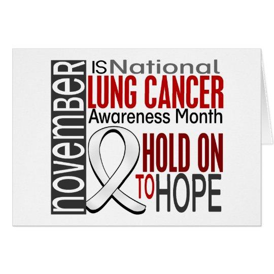 Lungenkrebs-Bewusstseins-Monats-Band I2.4 Grußkarte