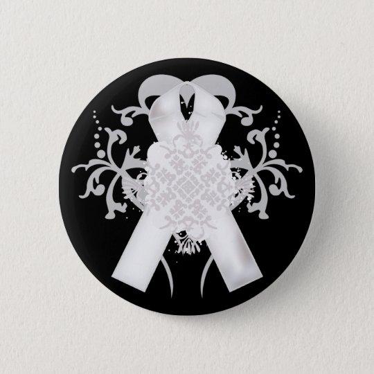 Lungenkrebs-Bewusstseins-Monats-Knopf Runder Button 5,1 Cm
