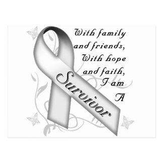 Lungenkrebs-Überlebender Postkarte