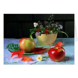 """LuRay gelbe Schüssel u. Äpfel"" FARMphemera Karte"