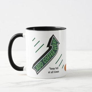 Lustig addieren Sie Kaffee hier Tasse