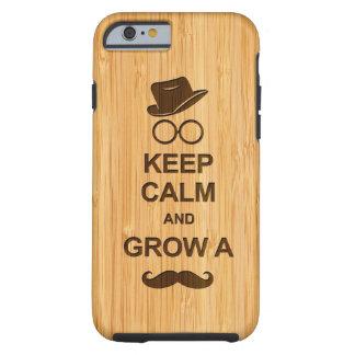 Lustig behalten Sie Ruhe und wachsen Sie einen Tough iPhone 6 Hülle