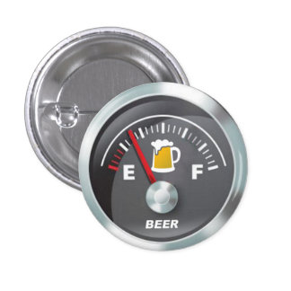 Lustig - Bier-Meter Fill'er hohes Messgerät Runder Button 2,5 Cm