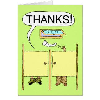 Lustig danke zu kardieren: Toilettenpapier Karte