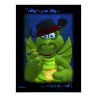 Lustig der Vatertag Drache- Poster