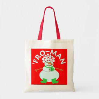 Lustig 'für Schneemann-Weihnachten Tragetasche
