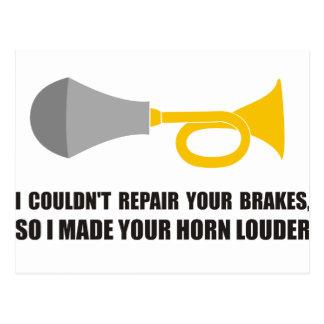 Lustig - ich könnte Ihre Bremsen, Horn nicht Postkarte