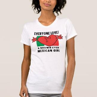 Lustig jeder Lieben ein mexikanischer Mädchen-T - T-Shirt