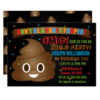 Lustig kacken Sie Emoji Geburtstags-Party Karte