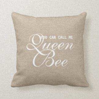 Lustig können Sie mich anrufen Bienenkönigin Zierkissen