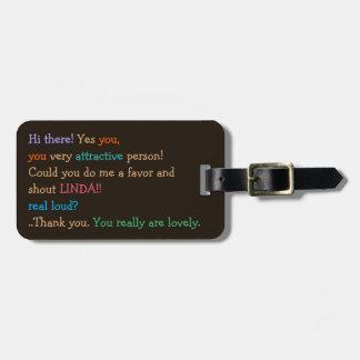 Lustig konnten Sie schreien Name-Adressen-Gepäck Gepäckanhänger