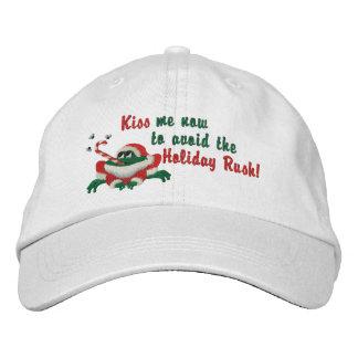 Lustig küssen Sie mich jetzt Frosch Besticktes Baseballcap