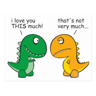 Lustig-t-Rex-klein-ArmCartoon Postkarte