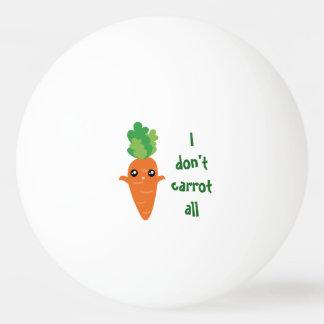 Lustig tue ich nicht Karotte aller Tischtennis Ball