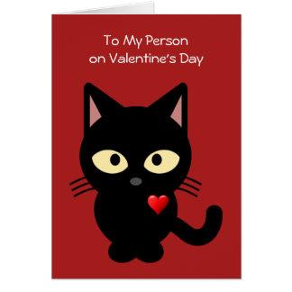Lustig von der Karte der Katzen-Valentinsgrüße
