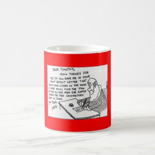 Lustig-Weihnachtenbuchstabe Kaffeetasse