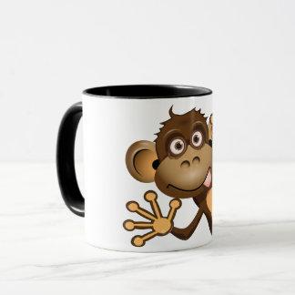 Lustige Affe-Tasse Tasse