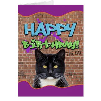 Lustige alles- Gute zum GeburtstagGraffiti von der Karte