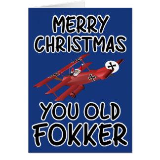 Lustige alte Weihnachtskarte Karte