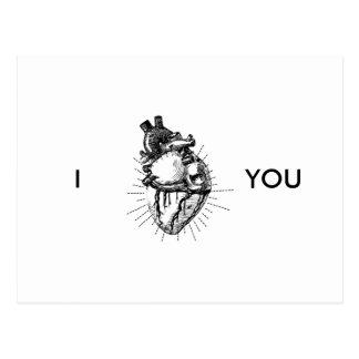 Lustige anatomisch korrekte Herz-Postkarte Postkarte