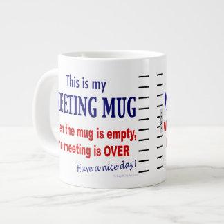Lustige Anti-Sitzung riesige Kaffee-Tasse Jumbo-Tasse