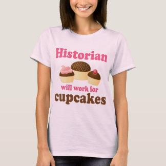 Lustige Arbeit für Kuchen-Historiker T-Shirt