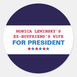 Lustige Aufkleber Hillary Clintons Monica Lewinsky