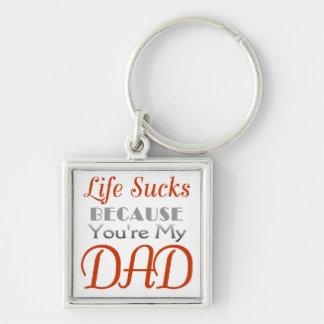 Lustige Aussage des Vatertags Schlüsselanhänger