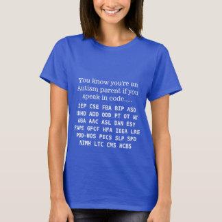 Lustige Autismus-Elternteil-Akronyme T-Shirt