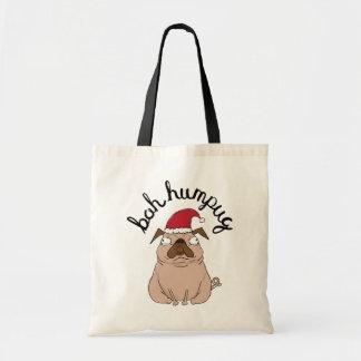 Lustige Bah Humpug Sankt Mops-WeihnachtsTasche Tragetasche
