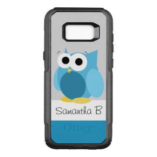 Lustige blaue Eulen-personalisierte OtterBox Commuter Samsung Galaxy S8+ Hülle