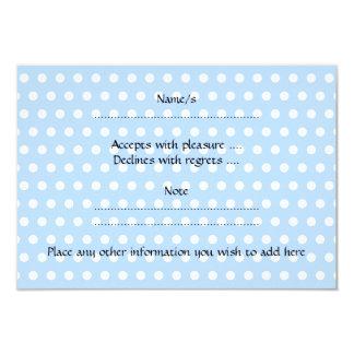 Lustige blaue Kaninchen-Karikatur 8,9 X 12,7 Cm Einladungskarte