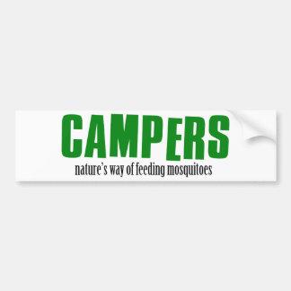 Lustige Campingsentwürfe Autoaufkleber