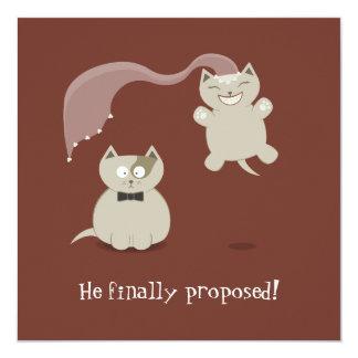 Lustige Cartoon-Katzen-Save the Date Mitteilung Ankündigungskarte
