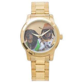 Lustige Dackel - Hundecowboy Uhr