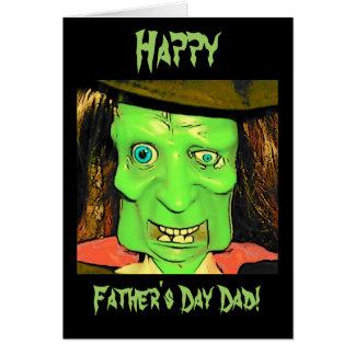 Lustige der Vatertags-Karte Spaß-Monster- Grußkarte